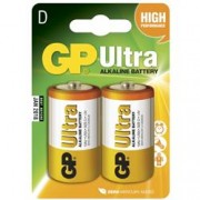 Gp Batteries Blister 2 Batterie GP Ultra Alcaline Torcia D 13AU/LR20