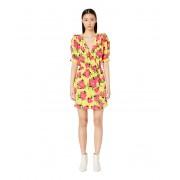 The Kooples Peony Printed In Love Dress Yellow