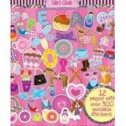 Girl Club Caiet cu abtibilduri reutilizabile