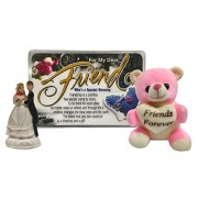 Saugat Traders Gift For Friend - Friends Forever Soft Teddy, Friends Quotation & Couple Showpiece