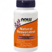 Ресвератрол - Natural Resveratrol - 60 капсули - NOW FOODS, NF3339