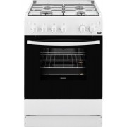 Aragaz Zanussi ZCG612H1WA, gaz, latime 60 cm, 4 arzatoare, grill, rotisor, alb
