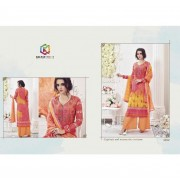 Premium Satin cotton embroidered ladies dress material Cotton dress materials for ladies