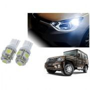 Auto Addict Car T10 5 SMD Headlight LED Bulb for Headlights Parking Light Number Plate Light Indicator Light For Mahindra Bolero