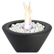 Flacara decorativa - Bol ceramica negru