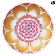 Villeroy & Boch 6 Soucoupes Anmut Bloom multicolores - D.12 cm