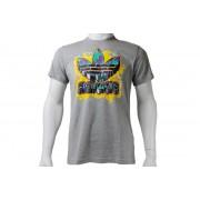 Adidas Old School Trefoil Tee Z36470 Homme T-Shirt Gris,Jaune