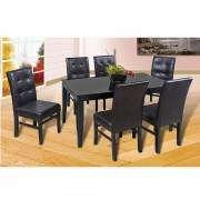 Muebles comedor garret 6 sillas negro