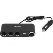 Accesoriu auto blow Splitter bricheta, 4x + 2x USB (# 96-875)