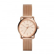 Часовник FOSSIL - The Commuter 3H Date ES4333 Rose Gold/Rose Gold