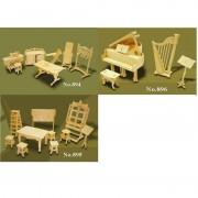 Geen Houten poppenhuis meubels hobby
