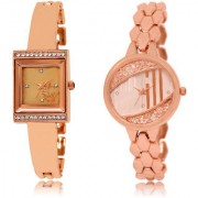 The Shopoholic Rose Gold Combo New Stylist Latest Rose Gold Dial Analog Watch For Girls Watches For Women Stylish