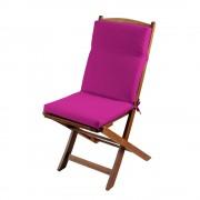 Perna scaun exterior fucsia cu spatar