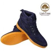 LishTree Men's Blue Casual Boots