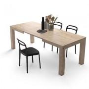 Mobili Fiver Mesa de cocina extensible, modelo Iacopo, color encina