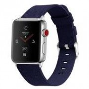 Apple Watch 42/44mm Canvas bandje - Donkerblauw