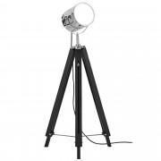 """[lux.pro] Stojací lampa """"Tripod"""" HT167207 - 1 x E 27 - 60W - chromová / černá"""