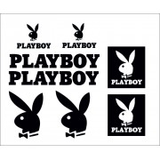 Adesivi Prespaziati Playboy kit da 8pz