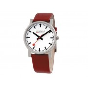 Mondaine Gents 38mm Evo Watch - White & Red