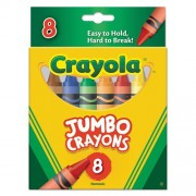 Crayola So Big Crayons, Large Size, 5 X 9/16, 8 Assorted Color Box 52 0389 (D Mi Bx