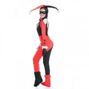 Halloween Costume Women Harry Qinn Clown Cosplay Clothing Size:XL Bust:90~96cm Waistline:74~78cm Jumpsuit Length:143cm