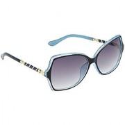 HRINKAR Men's Grey Mirrored Rectangular Sunglasses