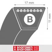 Curea de transmisie trapezoidala B 17x11x2900 La / 2831 Li - BP