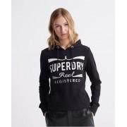 Superdry Mono Real Hoodie 34 schwarz