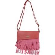 AANIA HAUTE Women Casual Pink Leatherette, Cotton Sling Bag