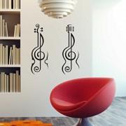 Sticker decorativ de perete Sticky, 260CKY1060, Negru