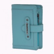 Fastrack Women Blue Genuine Leather Wallet(6 Card Slots)
