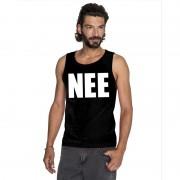 Shoppartners Nee mouwloos shirt zwart voor heren