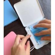 Box (plastová krabička) pre uskladnenie rúšok s úchytom pre rúško