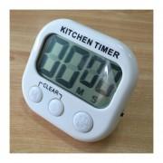 Digital Cocina Temporizador Alarma Electronica Respaldo Magnético Con Display LCD Para Cocinar, Hornear Juegos Deportivos Office (blanco)