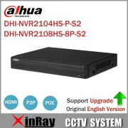 Dahua NVR2104HS-P-S2 NVR2108HS-8P-S2 4/8 Channel POE NVR 1U PoE Network Video Recorder Full HD 6MP Recording For IP Camera