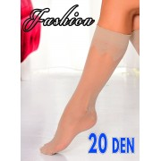 Sosete 3/4 Fashion Flowers 20 DEN Nude 01