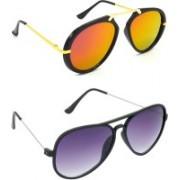 Hrinkar Wrap-around Sunglasses(Pink, Violet)