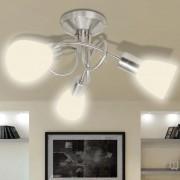 Лампа за таван с 3 стъклени абажура, за крушки тип Е14