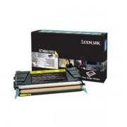 Lexmark Originale X 748 DTE Toner (X746A1YG) giallo, 7,000 pagine, 2.97 cent per pagina - sostituito Toner X746A1YG per X 748DTE