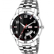 Lava Creation Analogue Black Dial Day And Date Function watch for Gentlemen Premium Quality Men's Watch (2033-BK )