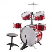 Classic Rhythm Toy Jazz Drum Big XXXL Size Children Kid's Musical Instrument Toy Drum Playset w/ 5 Drums
