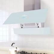 vidaXL Köksfläkt med pekskärm vit 900 mm