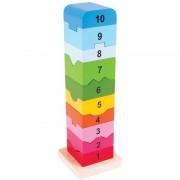 Turnulet din lemn cu numere Big Jigs