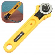 Meco Leather Craft Tools Circular Cut Yellow Rotary Blade Cutter Patchwork Fabric Leather Craft Sewing To