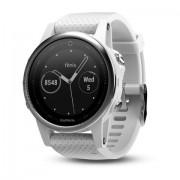 Watch, Garmin fenix® 5S, За фитнес, здраве и мултиспорт, Бял с бяла каишка (010-01685-00)