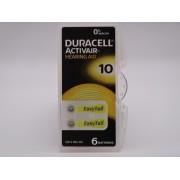 Duracell 10, PR70, 1.45V baterie auditiva blister 6 pentru aparate auditive