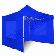ray bot Gazebo pieghevole 3x3 blu Exa 45mm alluminio con finestre PVC 350g
