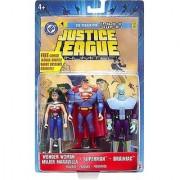 Justice League Unlimited Wonder Woman Superman & Brainiac Action Figure Set