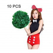 10 Pcs Square Bailoterapia Cheerleading Pelota Mano Flower Bouquet, Longitud De Cinta: 25 Cm (verde)