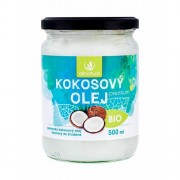 Allnature Premium Bio Coconut Oil 500 ml přípravek pro zdraví U